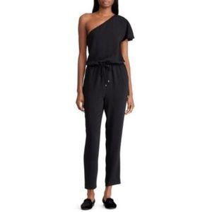 NWT! Ralph Lauren One-Shoulder Jumpsuit Black